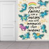 play with Unicorns & Rainbows Quote Wall Mural Kids Cartoon Photo Wallpaper