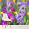 Gladiolus Flowers Pink & Purple Garden Wall Mural Floral Photo Wallpaper