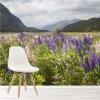 Lupin Flowers In Valley New Zealand Landscape Wall Mural Nature Photo Wallpaper