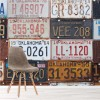 Vintage American License Plates USA Transport Wall Mural Travel Photo Wallpaper