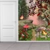 Enchanted Forest Butterflies & Mushrooms Fantasy Wall Mural Kids Photo Wallpaper