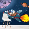 Spaceship & Astronaut kids Planets & Space Wall Mural Cartoon Photo Wallpaper