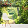 Rose Bush Arches Sunny Countryside Walk Nature Wall Mural Floral Photo Wallpaper