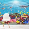 Vibrant Coral Reef & Sea Animals kids Wall Mural Under The Sea Photo Wallpaper