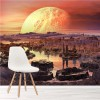 Red Sky On Martian Planet Alien Landscape Wall Mural Fantasy Photo Wallpaper