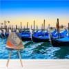 Gondolas Venice On Turquoise Sea Sailing Boats Wall Mural Travel Photo Wallpaper