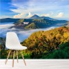 Volcano At Sunrise Asian Landscape Mountain Wall Mural Nature Photo Wallpaper