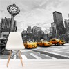 Yellow Taxi Cabs New York City America USA Wall Mural Skyscraper Photo Wallpaper