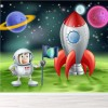 Astronaut & Rocketship On Alien Planet Space Wall Mural Kids Photo Wallpaper