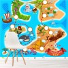 Treasure Map & Pirate Ship Adventure Cartoon Wall Mural kids Photo Wallpaper
