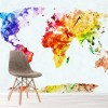 Colourful Map Of The World Educational Wall Mural Travel Photo Wallpaper
