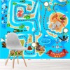 Pirate Adventure & Treasure Map Cartoon Maps Wall Mural kids Photo Wallpaper