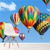 Bright Hot Air Balloons In Blue Sky Colourful Wall Mural Travel Photo Wallpaper