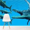 Ichthyosaurus Dinosaur Attacks Under The Sea Wall Mural kids Photo Wallpaper