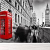 Big Ben & Red Telephone Box London Landmark Wall Mural Travel Photo Wallpaper