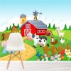 Farmyard Cows, Chicken, Horse & Ducks Kids Wall Mural Animal Photo Wallpaper