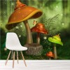 Magic Fairy Mushrooms Enchanted Forest Fairytale Wall Mural kids Photo Wallpaper