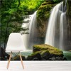 Beautiful Forest Waterfalls Thailand Landscape Wall Mural Nature Photo Wallpaper