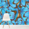 Blue Butterfly Background Abstract Art Animal Wall Mural Nature Photo Wallpaper