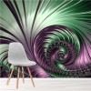 Bright Purple & Green Spiral Swirl Wall Mural Abstract Art Photo Wallpaper