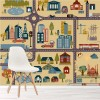 Fun Cartoon City Map Transport Maps Wall Mural Childrens Photo Wallpaper
