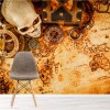 Vintage Treasure Map Skull & Compass Pirate Wall Mural kids Photo Wallpaper
