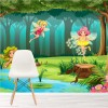 Fairies In Forest Cartoon Fairytale & Fantasy Wall Mural kids Photo Wallpaper