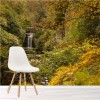 Autumn Trees & Waterfall, Newcastle Water Wall Mural Landscape Photo Wallpaper