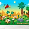 Cute Animals & Forest Tiger, Rhino, Zebra Animal Wall Mural Kids Photo Wallpaper