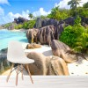 Beautiful Tropical Bay Seyshelles Beach Wall Mural Landscape Photo Wallpaper