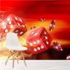 Red Dice On Fire Casino, Games Gambling Wall Mural Leisure Photo Wallpaper