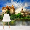 Chateau De Val French Castle On Lake Buildings Wall Mural Travel Photo Wallpaper