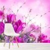 Pink & Purple Tulip Flowers Spring Floral Wall Mural Nature Photo Wallpaper