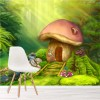 Fairy Mushroom Cottage Illustration Fairytale Wall Mural kids Photo Wallpaper