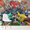 Guitar & Music Abstract Art Bright Graffiti Art Wall Mural Music Photo Wallpaper