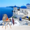 White Building, Blue Sea Santorini Greece Wall Mural Travel Photo Wallpaper