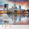 Dusk Over London Skyscrapers UK City Skyline Wall Mural Travel Photo Wallpaper