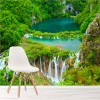Beautiful Waterfall & Greenery Croatia Wall Mural Landscape Photo Wallpaper