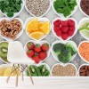 Fruit & Vegetable Heart Background Kitchen Wall Mural Food Photo Wallpaper