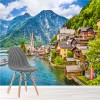 Pretty Mountain Village Austria Landscape Wall Mural Mountain Photo Wallpaper
