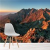 Red Rocky Mountains At Sunset Mountain Wall Mural Landscape Photo Wallpaper