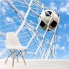 Football In Goal Back Of The Net Sports Wall Mural Hobbies Photo Wallpaper