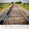 Railway, Railroad Tracks Train Travel Wall Mural Transport Photo Wallpaper