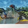 Caudipteryx Dinosaur Drink From Pool Prehistoric Wall Mural kids Photo Wallpaper