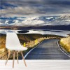 Snow, Winter Path New Zealand Mountains Wall Mural Landscape Photo Wallpaper