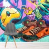 Abstract Art Trainers Urban Graffiti Wall Mural Illustration Photo Wallpaper