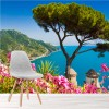 Amalfi Coast, Italy Flowers & Coastline Landscape Wall Mural Photo Wallpaper