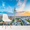 Sunset Over Skyscrapers Berlin Germany City Wall Mural Travel Photo Wallpaper