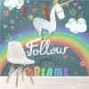 Follow Your Dreams Unicorn Fairytale & Fantasy Wall Mural kids Photo Wallpaper