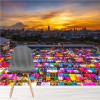 Colourful Bangkok Market Thailand Wall Mural Landscape Photo Wallpaper